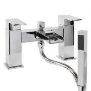 Waterfall Bath Shower Mixer with Handset, Holder & Hose